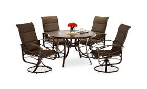 5 piece patio table and chairs tahoe 5 piece patio dining set patio designs