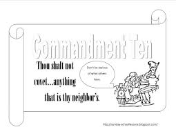 commandments coloring pages numbers nine ten sunday 806258