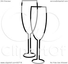 black and white champagne bottle clipart royalty free rf clipart illustration of a black and white
