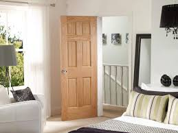 Oak Interior Doors Bedroom With 6 Panel Oak Interior Doors Rich Oak