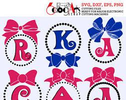 bow monogram bow monogram etsy