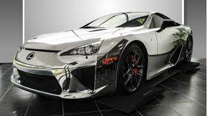 lexus sports car lfa price chrome wrapped lexus lfa is for sale autoevolution