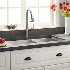Kitchen Undermount Sink 33 Executive Zero Radius 60 40 Offset Bowl Stainless Steel