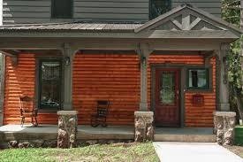 cheerful design ideas using rectangular brown wooden pillars and