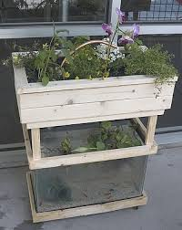farm in the box is a combined fish tank planter box waste from