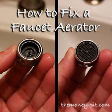 kitchen faucet aerators fixing a faucet aerator you can be a diy r the six fix
