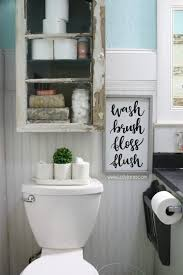 Rustic Farmhouse Bathroom - diy bathroom cabinet