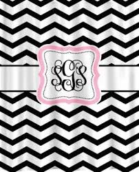 Pink Black And White Shower Curtain Pink Black Shower Curtains Foter