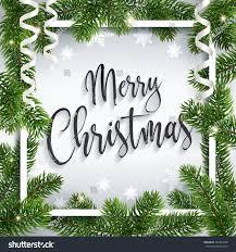 merry christmas inscription greeting white festive stock vector