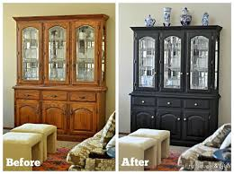 Before And After Painted Kitchen Cabinets by Best 25 Black Painted Furniture Ideas Only On Pinterest Black