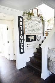 farmhouse style staircase gallery wall liz marie blog