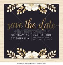 Save The Date Wedding Cards Save Date Wedding Invitation Card Template Stock Vector 439201627