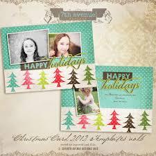 2012 christmas card templates vol 31 7x5 inch card template