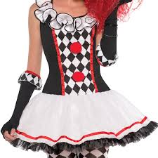 harlequin halloween costumes ladies harlequin honey circus evil clown jester joker fancy
