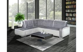 canapé angle gris blanc canapé d angle gauche florida gris et blanc top déco