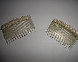 vintage comb vintage pearl hair comb etsy