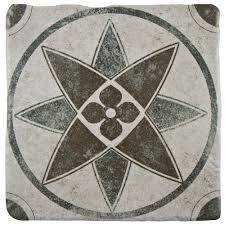 merola tile costa cendra decor starflower 7 3 4 in x 7 3 4 in