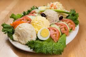 egg platter tuna egg salad platter picture of sarge s delicatessen diner