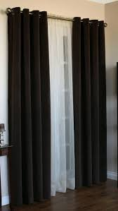 home accessories elegant dark swags galore with white sheer