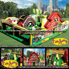 party rental mn learning farm playland slide combo minnesota party