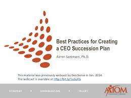 best practices for creating a ceo succession plan