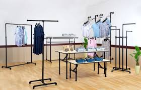 Galvanized Pipe Clothes Rack Industrial Clothing Rack Clothing Rack Shelf Combination