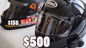 cheap motorcycle gear 500 vs 150 helmet which should you buy youtube