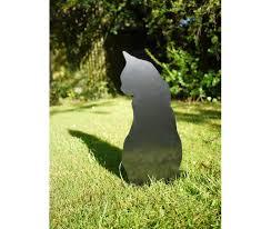 garden cat metal lawn ornament yard garden sculpture