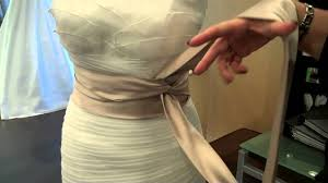 satin sash belt how to tie a sash on your wedding dress