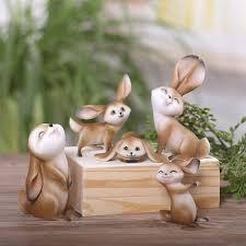 rabbit figurine statues garden ornaments miniatures