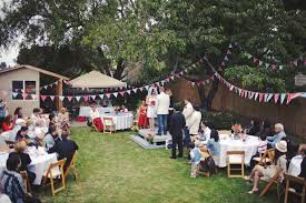 Simple Backyard Wedding Ideas by Small Diy Backyard Wedding Tasha U0026 Noah U0027s Americana Backyard Bbq