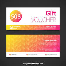 gift voucher template vector free download
