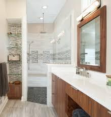 ceramic tile corner shampoo shelf ideas bathroom transitional with