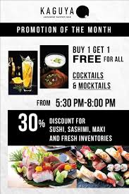 cuisine promotion kaguya promotion of the month openrice ไทย