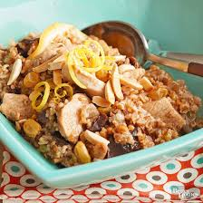 dried fruit chicken and bulgur pilaf