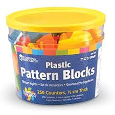 amazon com learning resources wooden pattern blocks set of 250