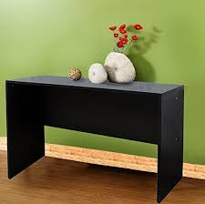 Entryway Console Table Merax Contemporary Console Table Black Finish Wood Entryway