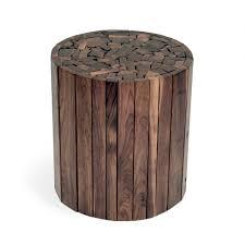 round walnut side table contemporary side table walnut round custom stick hudson