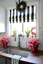 my christmas superior white kitchen curtains decking the halls my christmas