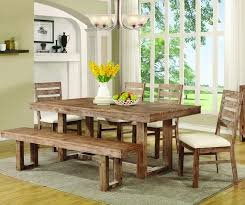 elmwood rustic 6 piece table chair bench dining set coaster 105541