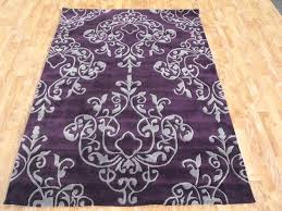 Damask Kitchen Rug Purple Runner Rug Bosli Club