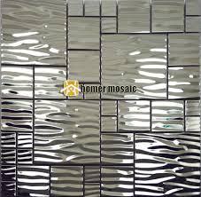 stainless steel tiles for kitchen backsplash wave pattern stainless steel metal mosaic metal mosaic tile moder