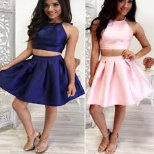 dress short homecoming dress two pieces homecoming dress cute