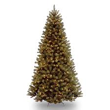 national 10 ft pre lit slim rightside up artificial tree