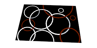 Small Black Rugs Small Black White And Red Circles Rug Indulgence Furniture