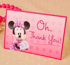 minnie mouse thank you cards free minnie mouse thank you cards tip resource