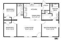 floor plans 3 bedroom 2 bath house 3 bedrooms plan pdf buscar con casas