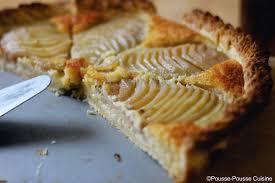 pousse pousse cuisine pousse pousse cuisine tarte aux poires et à la crème d amandes