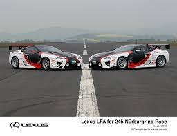 lexus lfa race car lexus and gazoo racing compete together at nürburgring 24h race