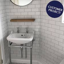 white chapel brick gloss tiles metro smooth 150x75 tiles